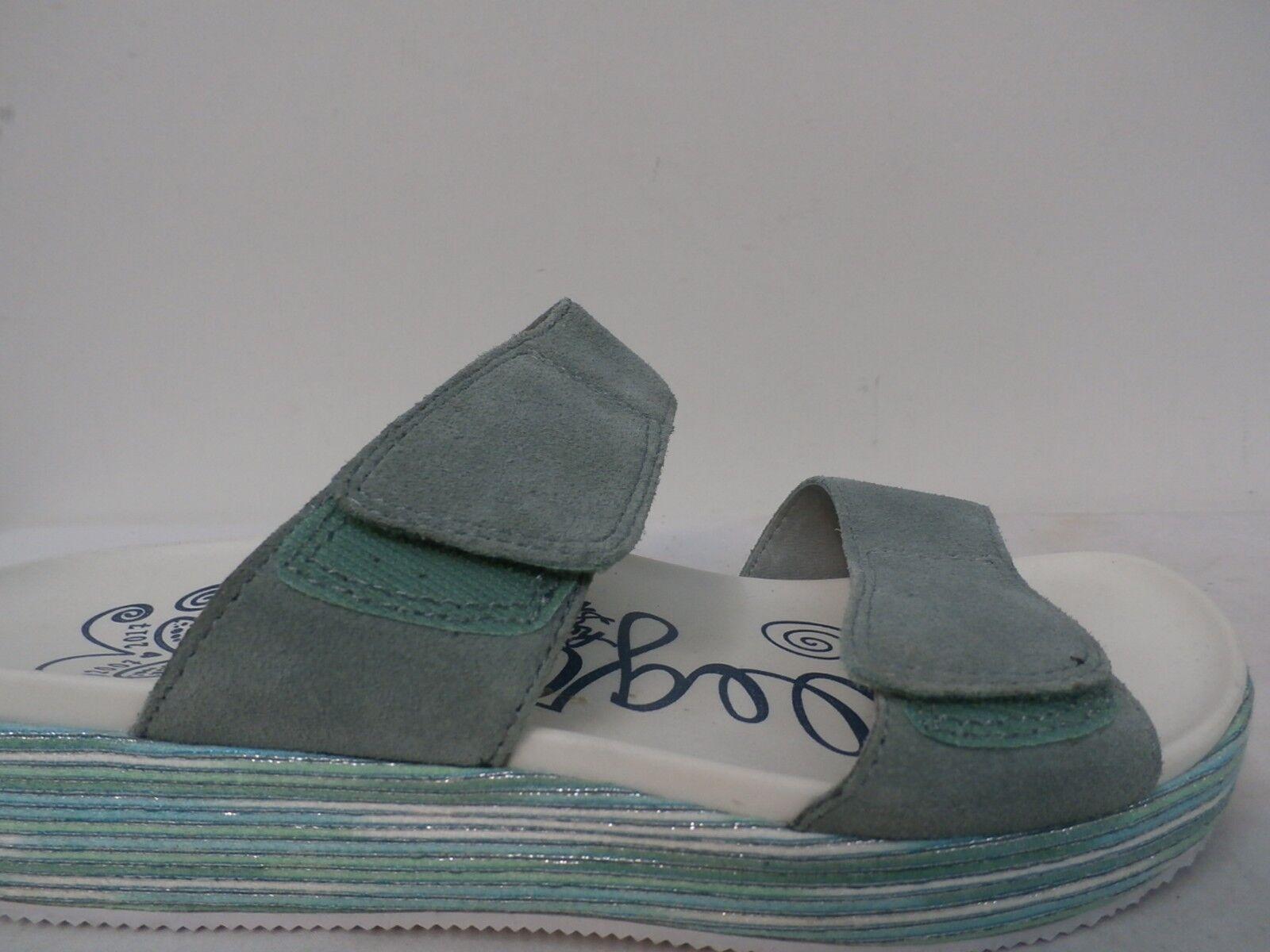 Alegria Suede Adjustable Slide Wedge Sandals Sandals Sandals - Mixie blueE HARBOR Size 38(8-8.5) 04237e