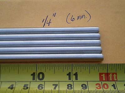 "2 PCS. STAINLESS STEEL ROUND ROD 302, 1/4"" (.250"") (6.33MM.) X 12"" LONG"