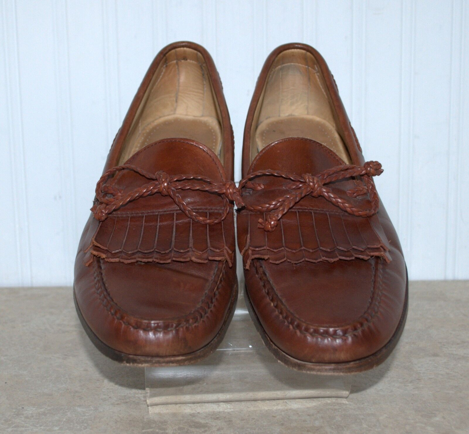 Allen Edmonds Woodstock Woodstock Woodstock 11.5 B Mans Shoes Loafer Chili Brown Pelle Kilt Top fb44f9