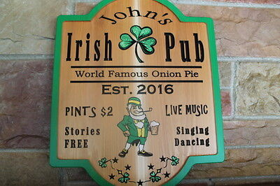 Personalized Irish Pub Sign Plaque Wood Home Bar Signs Mancave Decor Beer Custom Ebay