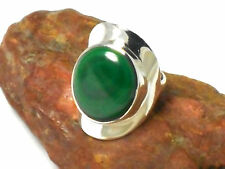 MALACHITE   Sterling  Silver  925  Gemstone  RING  -  Size O  -   Gift Boxed