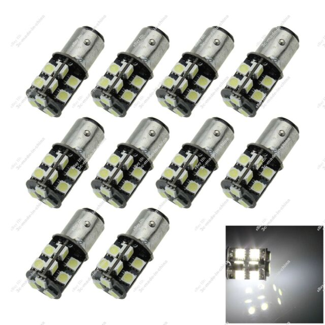 10X 1157 T25 BAY15D 19 SMD 5050 LED Turn Side Light Canbus Error Free Auto ZE009