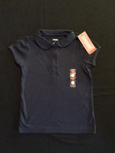 NWT Gymboree Girls Uniform Shop Navy Blue Polo Size 5 /& 6