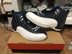 save off 641ad d4ae8 Image is loading New-Original-Air-Jordan-12-Obsidian-White-French-