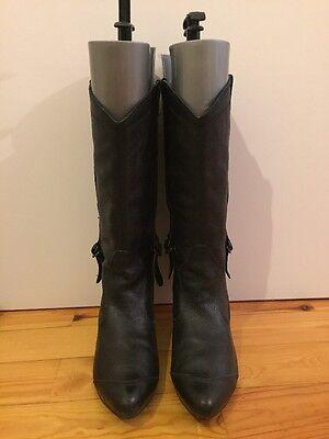 Damenschuhe Größe 39 - REPLAY - Stiefel - Echtleder - Schwarz