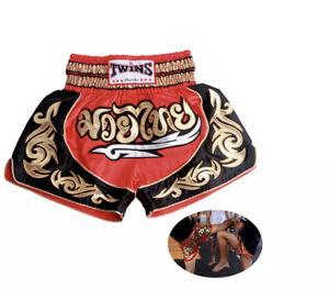 Thaiboxing Two Tone Nylon Satin Kickboxing K1 MMA Muay Thai Shorts S M L XL XXL
