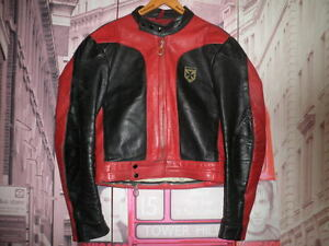 CHUPA-CUERO-HARRO-ROCKER-PIEL-VINTAGE-CHAQUETA-MOTORISTA-LEATHER-JACKET-RACER-M