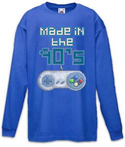 Made-In-The-90-039-s-Kinder-Langarm-T-Shirt-Gamer-Gaming-Controller-Keyboard-Fun