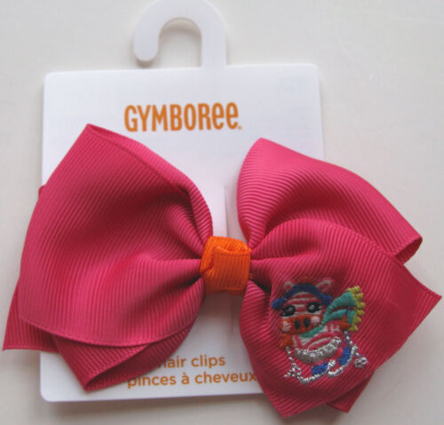 Gymboree Your Choice of Bow Barrettes NEW Color Happy Lemony Zebra Corgi Fox
