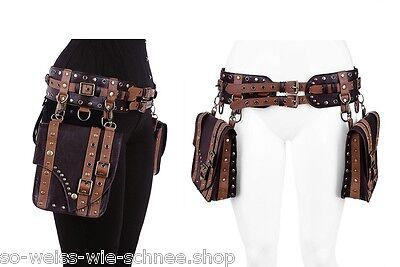 Restyle Steampunk Kunst-Leder Gürtel Tasche LARP Pirate Pocket Punk Belt Gothic