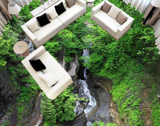 3D Forest Streams 556 Floor WallPaper Murals Wall Print 5D AJ WALLPAPER AU Lemon