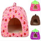 New Soft Strawberry Pet Dog Puppy Cat Bed House Kennel Doggy Warm Cushion Basket