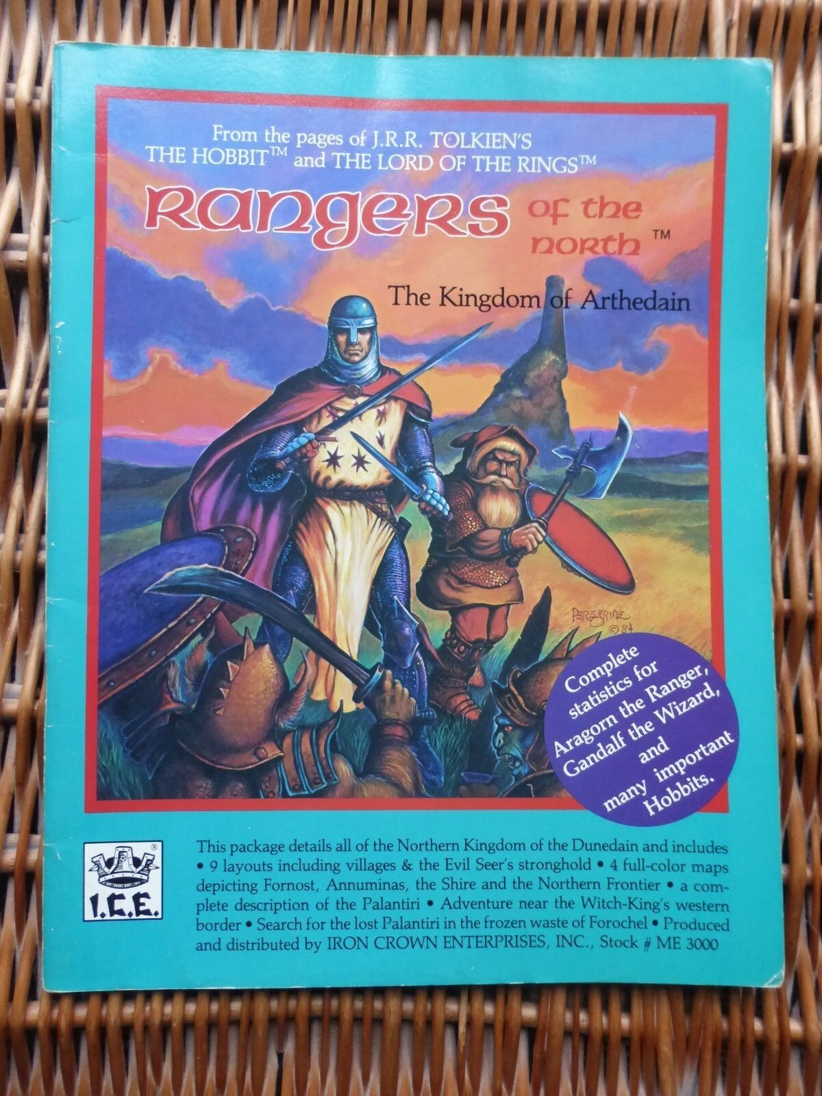 Rangers of there North MERP ICE Lord of the Rings Rolemaster Middle Earth No Map