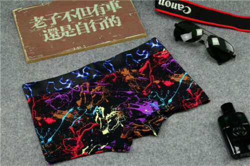 Printing Ice Silk Boyshorts Low Waist Women Panties Underwear Briefs Boxer