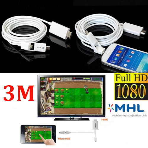 MHL Micro USB to HDMI HDTV TV AV Cable Adapter for Android Smart Phone 5//11Pin