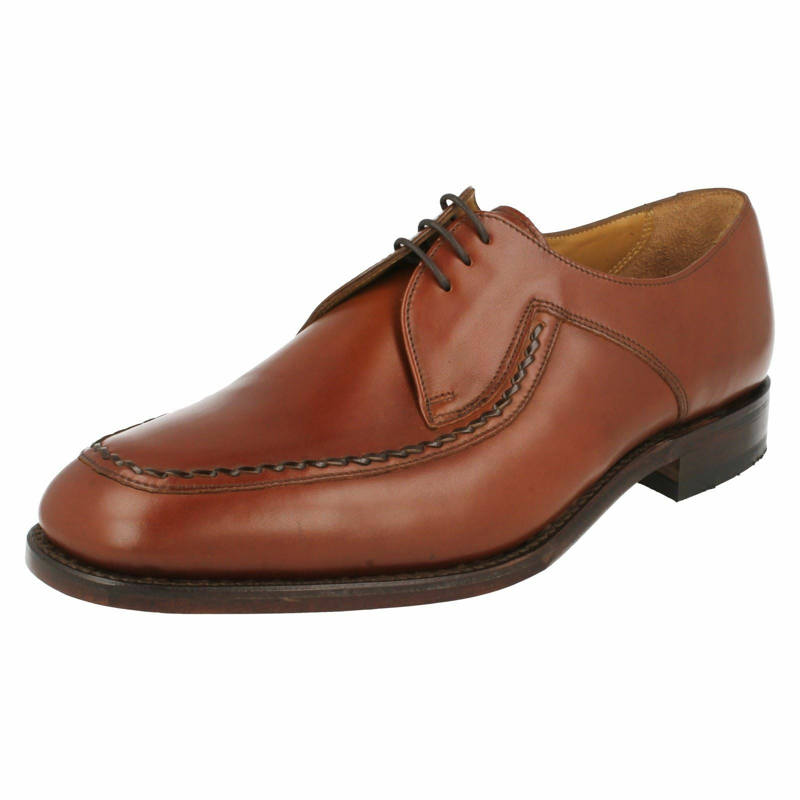 Loake Fontwell Tan Leather Smart Apron Front Lace Up Shoes