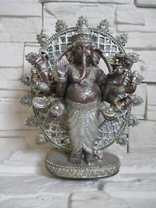 Ganesha 10 Arme Hinduismus Indien Modell 28 cm Polyresin Elefant Figur