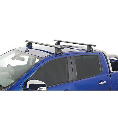Rhino Pair Vortex Roof Racks FORD Ranger 4dr Ute PX Dual Cab 2011 On Black