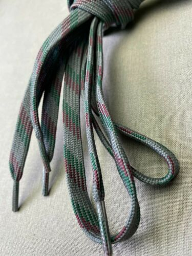 Details about  /Gray w Red /& Green Flat Shoe Bootlaces 51 Inch 6 Eyelet Hiking Work Boot Sneaker
