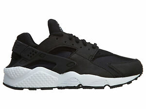 Nike Air Huarache Run Black Black White Women Running Shoes 634835-006 SZ 6 -8.5