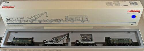 """Märklin 4897 Wagen-Set /""""Torf-Transport/"""" der K.Bay.Sts.B aus Sammlung mit OVP A"""