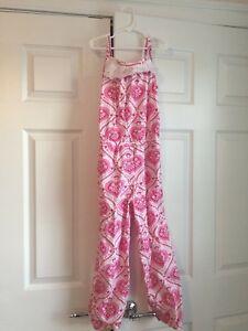383cb194f20 Eleanor Rose Candy Hearts Valentine s Jumpsuit Romper size 7 8. EUC ...