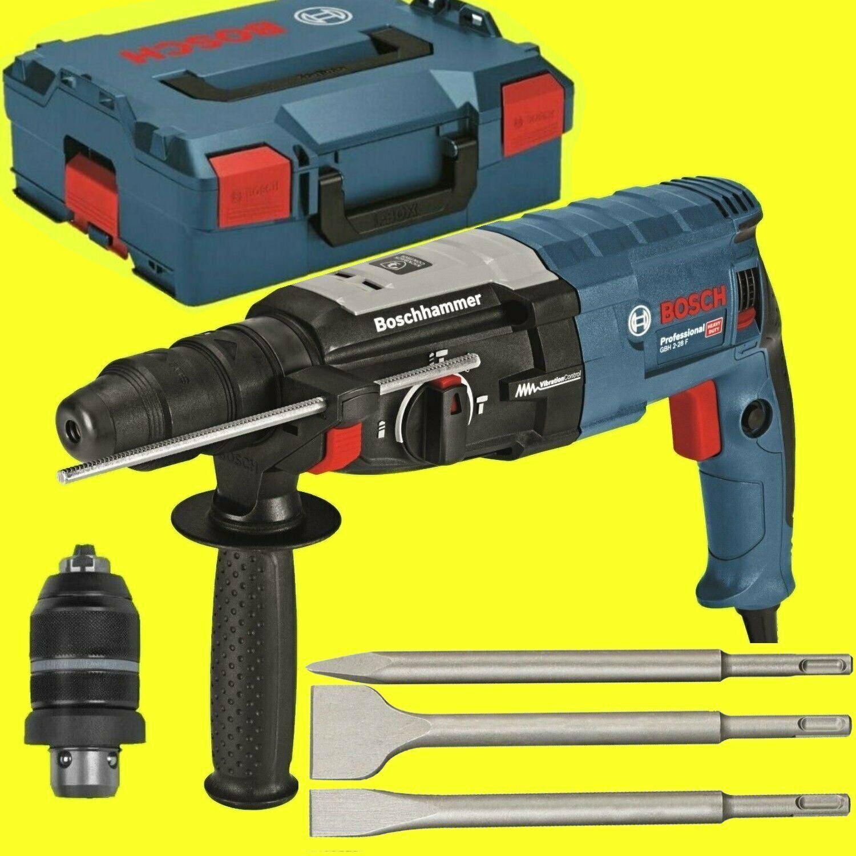 BOSCH Bohrhammer GBH 2-28 F + L-BOXX  + METABO Meissel-SET 3-teilig