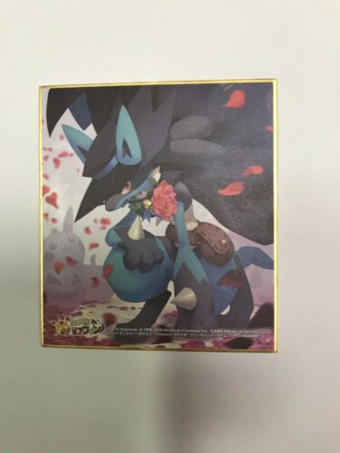 Pokemon Center Limited Pokemon Halloween Festival 2019 Lucario Shikishi type A