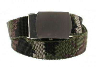 Intelligente Unisex Canvas Militare Dell'esercito Motivo Mimetico Verde Cintura In Tela-mostra Il Titolo Originale