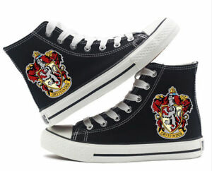 muggle harry potter gryffindor high top canvas flat shoes
