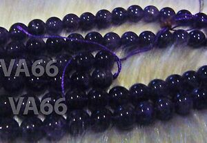 DIY-Purple-10mm-Amethyst-A-Gemstone-Round-Gemstones-15-034-Beads-Batu-Asli