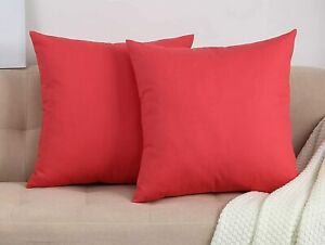Decorative Pillow Solid Coral Pillow COVER for 18x18 Pillow Solid Coral Throw Pillow Throw Pillow Cover