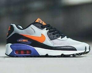 Nike-AIR-MAX-90-Mesh-GS-misure-UK-5-EUR-38-Lupo-Grigio-Crimson-piu-recente-NUOVO