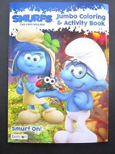 """SMURFS The Lost Village Jumbo Coloring & Activity Bk 8"""" x11"""" Sony Animation New!"""