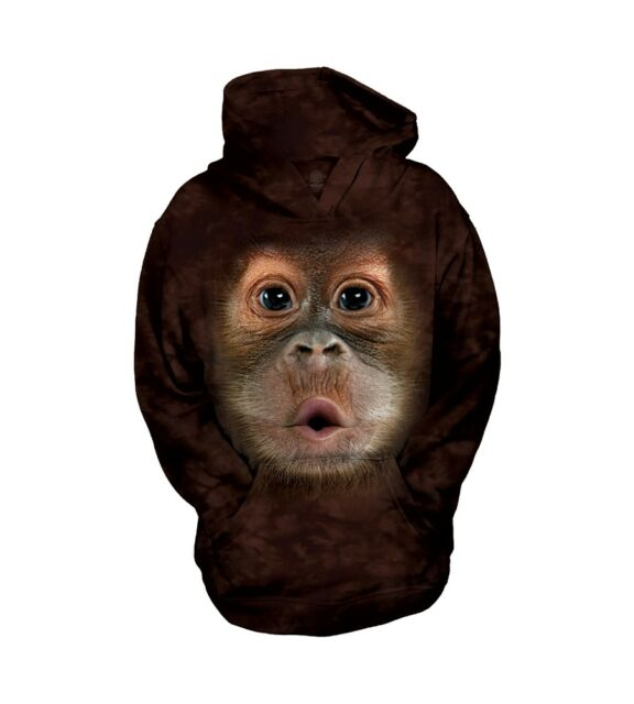 Giant Head Monkey Animal S-5XL Big Face Baby Orangutan T-Shirt by The Mountain