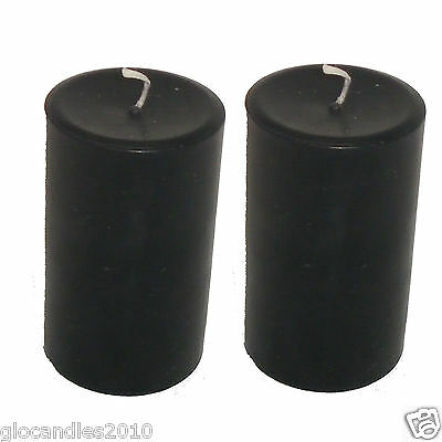 Pair of Coloured Round Pillar Candles New Handmade