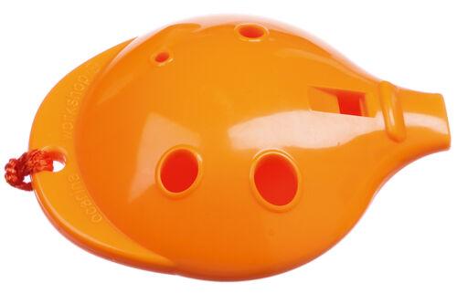 Orange 4-hole /& How-to-Play card UK-made by Ocarina Workshop Plastic OCARINA
