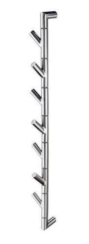 Garderobenstange Hakenstange mit 7 Haken einzeln schwenkbar  Edelstahl poliert