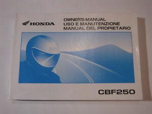 HONDA-CBF250-2003-OWNER-OWNER-039-S-MANUAL-DEL-PROPIETARIO-USO-E-MANUTENZIONE