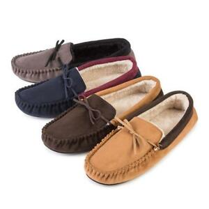 6dbac033d359 Image is loading totes-Mens-Suedette-Moccasin-Slippers