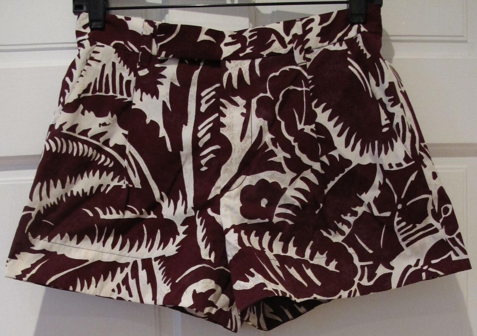 Marc Jacobs Hawaiian Board Mini Shorts Floral Summer Surf Beach Sz 0