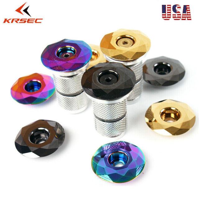 "Titanium-plated Top Cap AL Expander 1-1//8/"" MTB Bike Headset Superlight 3 Colors"
