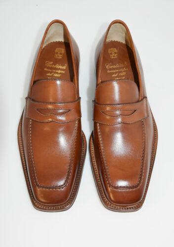 8eu vitello Man suola Loafer Sole 9usa Cognac leather Cuoio Calf penny tan qdgaZd