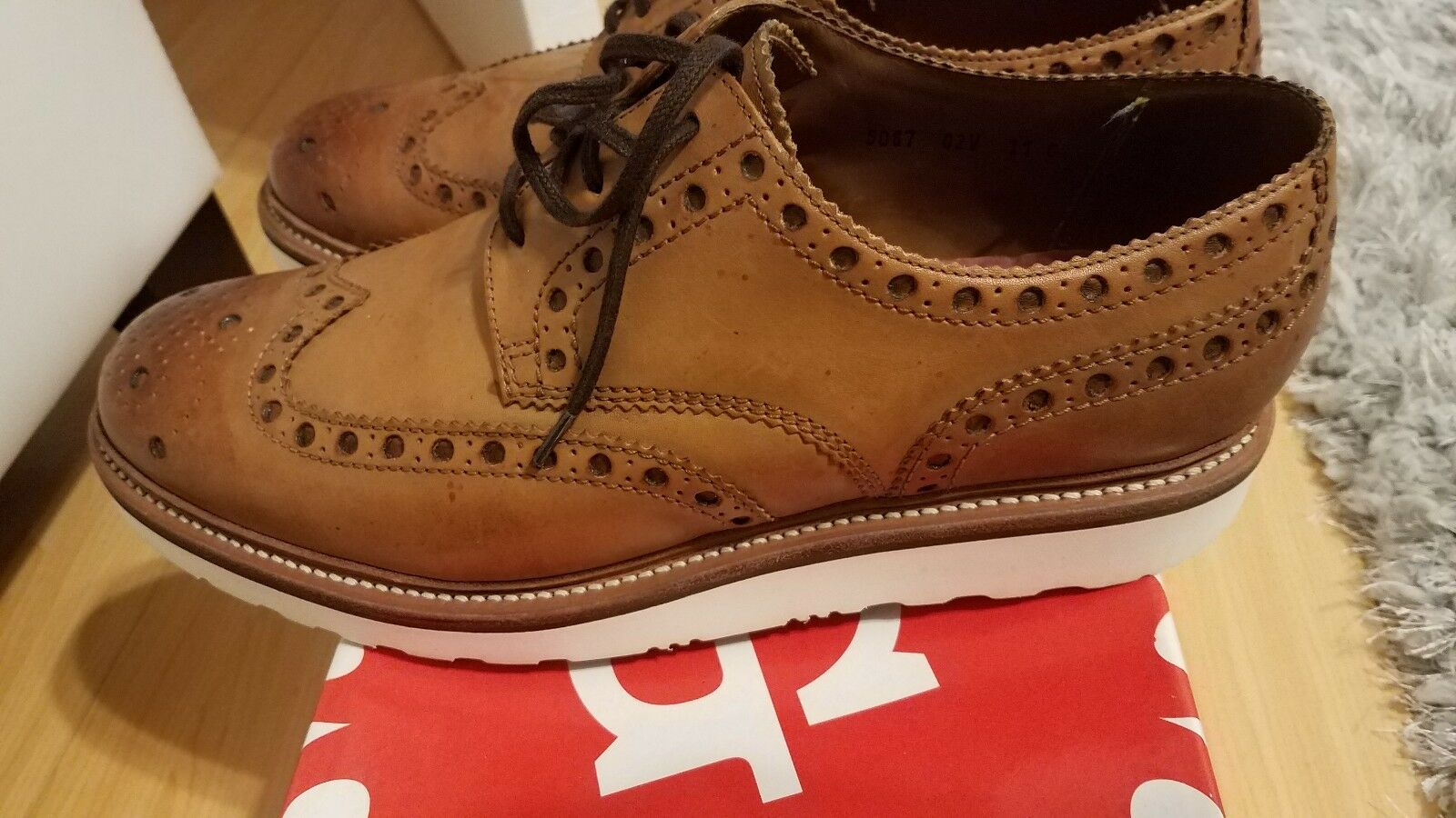 f6a083145871 ... Men Grenson Oxford shoes size 12 12 12 leather fe636b.