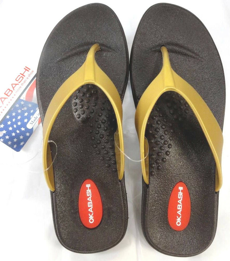 Okasbashi USA Thong Women Sandals-Flip-Flops-Gold-White-or 5-6-NEW! Silver-Sz S: 5-6-NEW! Sandals-Flip-Flops-Gold-White-or 917cd0