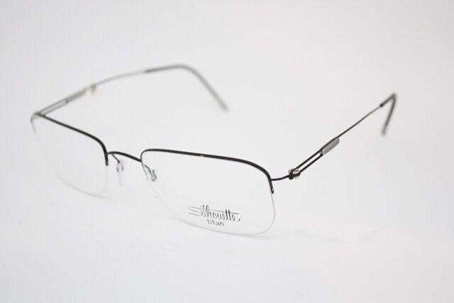 92002ca573f Silhouette 7584 50 Titanium Eyeglasses Frame 6054 Black 52mm Men for ...