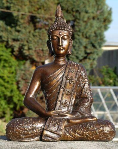 Neu BUDDHA Meditation Thailand Budda Mönch Resin Garten Res15