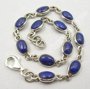 925-Pure-Silver-UNISEX-Bracelet-Made-In-India-Natural-Gemstone-Discount-Jewelry