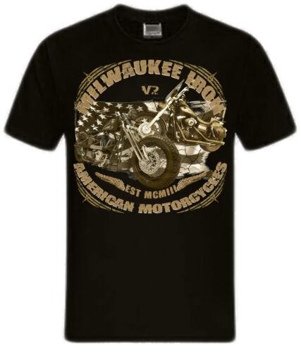 UU. Shirtmatic Biker camisa motocicleta milwaukee Iron Chopper Bobber Skull American EE