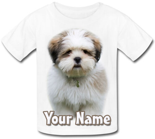 PUPPY CHILDS PERSONALISED T-SHIRT GREAT KIDS GIFT /& NAMED TOO LHASA APSO DOG